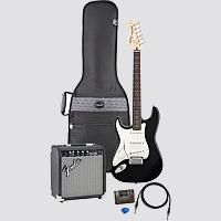 Fender Left-Handed Standard Strat Electric Guitar Pack - Click For Larger Image